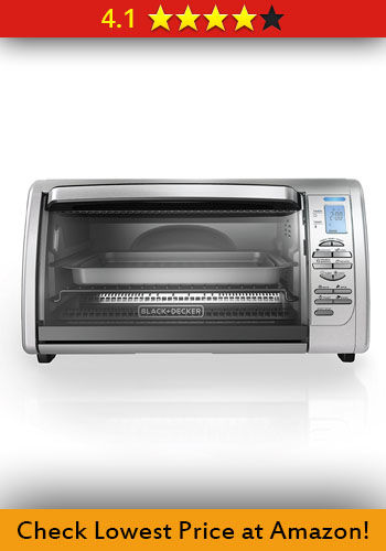 BLACKDECKER Countertop Convection Toaster Oven Silver CTO6335S