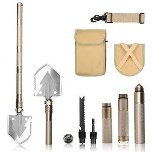 FSDUALWIN Military Portable Folding Shovel