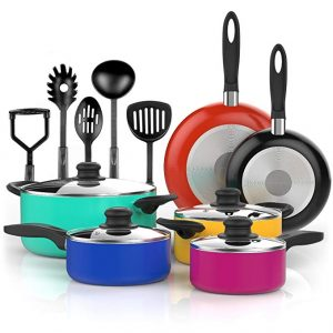 Vremi 15 Piece Nonstick Color Pop Cookware Set Review