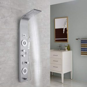 Rusilay Led Overhead Shower Head Set