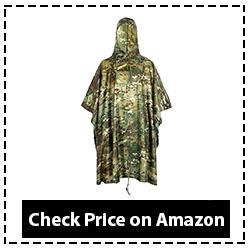 Lmeison Multifunctional Camouflage Impermeable Rain Poncho
